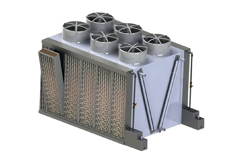 Adiabatic Cooling Units : Adiabatic cooling with wet media systems in data centers